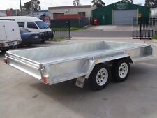 12x6 Tandem Trailer Galvanised Heavy Duty With 300mm Checker Plate Sides
