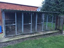 Dog Kennel, Galvanised Runs, Four Kennels 9ft By 4ft Each