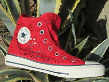 Shoes Converse All Star CT Hi Specialty Crochet 552998c sneakers woman Red lace