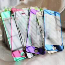 Color Mirror Tempered Glass Explosion Proof Screen Protector For iPhone 5 5s 5c