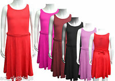 New Kids Girls Party Fancy Skater Belted Dress Size 5 6 7 8 9 10 11 12 13 Yrs