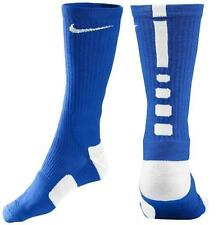 NIKE BASKETBALL ELITE CUSHIONED DRI-FIT SOCKS SX3693 441 BLUE/WHITE - LARGE