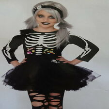 girls skeleton costume fancy dress black bones tutu halloween girl costumes