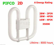 Pifco 2D Fluorescent Tube Energy Saving A Lights -3500K 28W 16W 2PIN 4PIN Lights