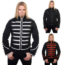 Handmade Men Black Parade Military Marching Banned Drummer Jacket Goth Punk Emo