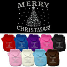 Dog Hoodies - SHIMMER CHRISTMAS TREE Screenprint - Poly/Cotton Many Sizes/Colors