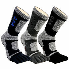 Mens Sports Compression Running Hiking Anti-Blister Cool Five Finger 5 Toe Socks