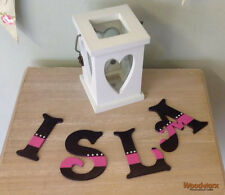 Personalised Wooden Bedroom Door Decorative Letters Name Plaque or Toy Box #56