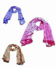 Fashion Circles & Flower Pattern Women Scarf (WS-1014)