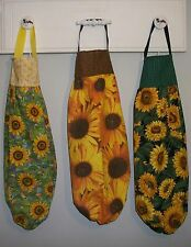Sunflowers Tossed Packed Plastic Grocery Bag Rag Sock Holder Organizer HCF&D