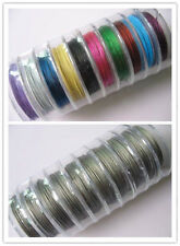 Free shippin 100 Meter(10 Roll)Silver/Mixed Copper Tiger Tail Beading Wire/0.38