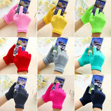 Gloves Unisex Touch Screen Knit Glove Hand Warm for Smartphone One Size a Pair