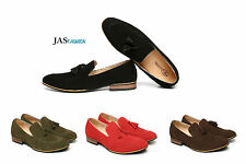 Men Smart Slip On Shoes Leather Designer Dress Tassel Formal Casual Loafers Size