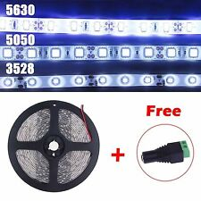3528 5050 5630 5m LED SMD Flexible Strip Cool White Waterproof IP65 String Light
