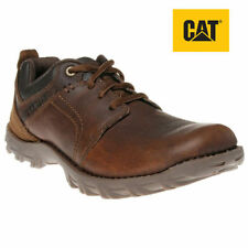 Caterpillar Mens Casual Real Brown Leather Shoes Cat Walking Smart Emerge
