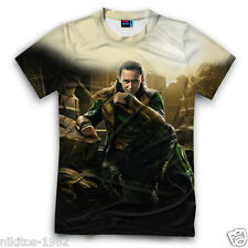 Loki comics hero 3D prints Mighty Avengers New T-shirt Russia Cool Sports XS-5XL
