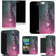 case cover fits various htc mobile phones - pink dust speckle