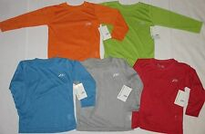 NWT Lot of BOYS Size 4 7 PRO PLAYER Athletic Long Sleeve T SHIRTS Red Blue Green