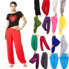 Women Harem Genie Yoga Pants Dance Aladdin Hippie Baggy Jumpsuit Long Trousers