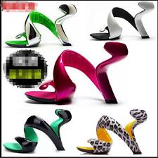 Stylish Women No Sole High Heels Sexy Comfort Sandals Hollow Out Party Shoes New
