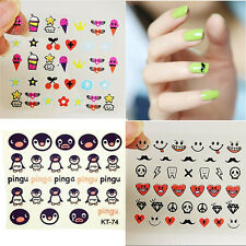 3D Mixed Design Decals Nail Art Stickers Acrylic Manicure Tips DIY Decorations