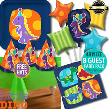 LITTLE DINO CUTE DINOSAUR BOYS FIRST 1ST BIRTHDAY PARTY SUPPLIES DECORATIONS