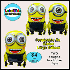 DESPICABLE ME MINION DAVE OR STUART PARTY BALLOON - PARTY SUPPLIES - ONE BALLOON