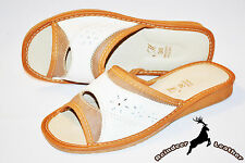 Women Ladies Real Leather Handmade Tan Slippers Sandals Shoes Boot Open Toe Mule