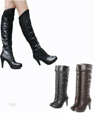 Fashion Women's sexy  tapered High Heel Boots Knee High Shoes AU All Size TB662