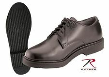 Oxford ARMY shoes FLAT FINISH black uniform Soft Sole OIL RESISTANT Rothco 5085