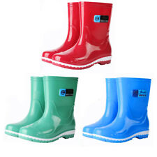 Fashionable ankle boot womens galoshes waterproof rain boots rubber shoes