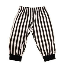 Black & White Striped Beetlejuice Baby Trousers, Punk, Rock, Goth 0-24 Months