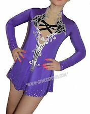IN STOCK   size XS-L  Figure ice skating dress  roller skater  RG-Leotard