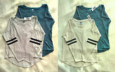 NWT Lot of 2 Old Navy Girls Long Sleeve Drop Shoulder Long Sleeve Tee Shirts Top