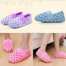 New Womens Indoor Anti Slip Shoes Winter Warm Soft Cotton Antiskid Home Slippers