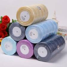 Sheer Woven Edge Organza Ribbon 50yards  6 12 25 38mm Wide Bows Crafts