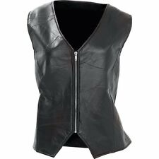Diamond Plate Ladies' Rock Design Genuine Leather Angel Wing Vest