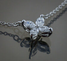 Tiffany & Co Victoria Marquise Diamonds Pendant Small in Platinum