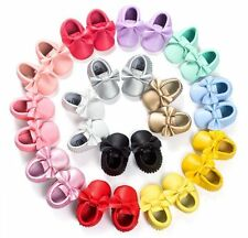 2017 Baby Soft Sole Leather Shoes Infant Boy Girl Toddler Moccasin 0-18m SS