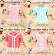 Girl Clothing Baby Coat O-Neck Lace Jackets Spring Fall Cardigan Casual Tops Hot