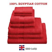 Genuine 100% Egyptian Cotton Face Cloth Guest Hand Towel Set Bath Sheet MAROON