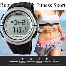 New SKMEI Pedometer Fitness Running Sport Heart Rate Monitor Wrist Watch