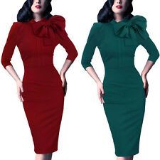 Womens Vintage Retro 1950's 1940's Rockabilly Swing Evening Dress Bodycon Skirts