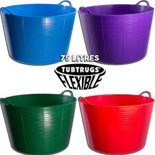 75L GENUINE TUBTRUG FLEXIBLE EXTRA LARGE HORSE FEEDING BUCKET VARIOUS COLOURS