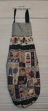 "Country Sampler Prim Animals Plastic Grocery Bag Rag Sock Holder 17""x24 HCF&D"