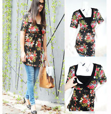 ROSE SS Maternity Clothes Nursing Clothing Breastfeeding Tops Nursing Shirt Nw