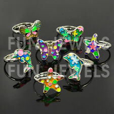 Cute Butterfly Sea Animal Kids Children Color Change Mood Ring Adjustable
