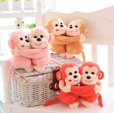 Valentine's Day lovers Gift Monkey doll baby Plush toy double / pairs pink dolls
