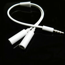 3.5mm Stereo Headphone Audio Male To 2 Female Y Splitter Cable Adapter For Phone
