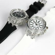 New Fashion Geneva diamond LED Watch Women Men Watches Quartz Jelly Silicone BH